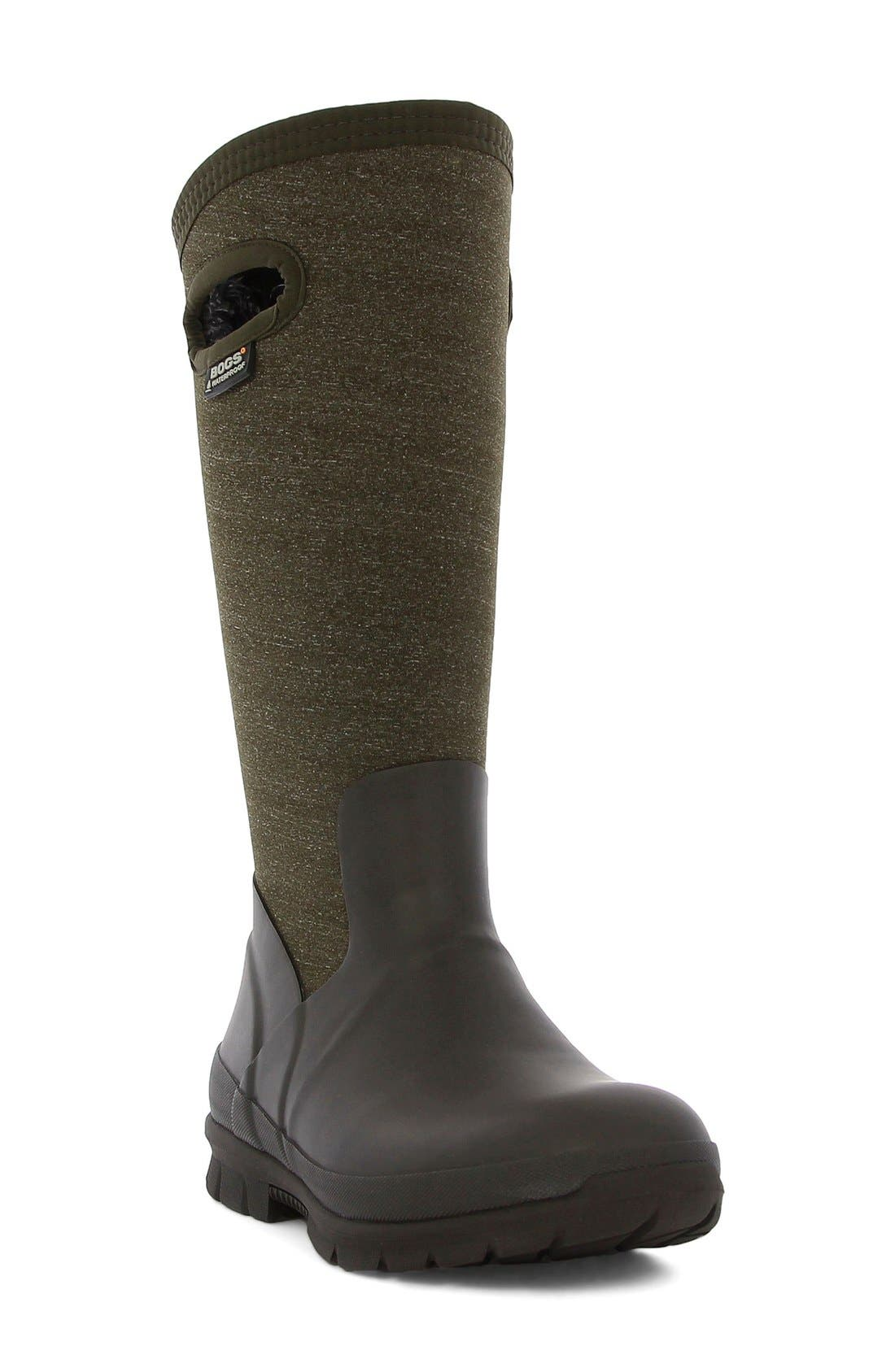 'Crandall' Waterproof Tall Boot,                             Main thumbnail 1, color,                             Chocolate Multi