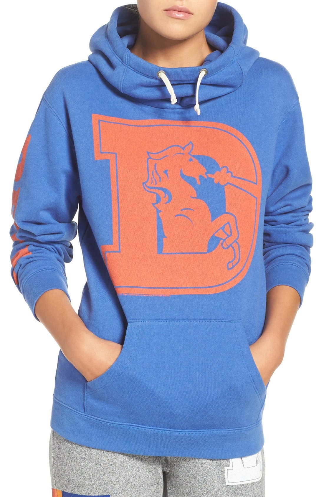 Alternate Image 1 Selected - Junk Food 'Denver Broncos' Hooded Sweatshirt