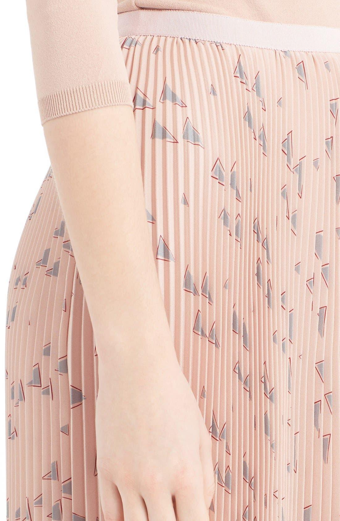 Alternate Image 5  - Valentino 'Cascade Triangle' Print Plissé Maxi Skirt