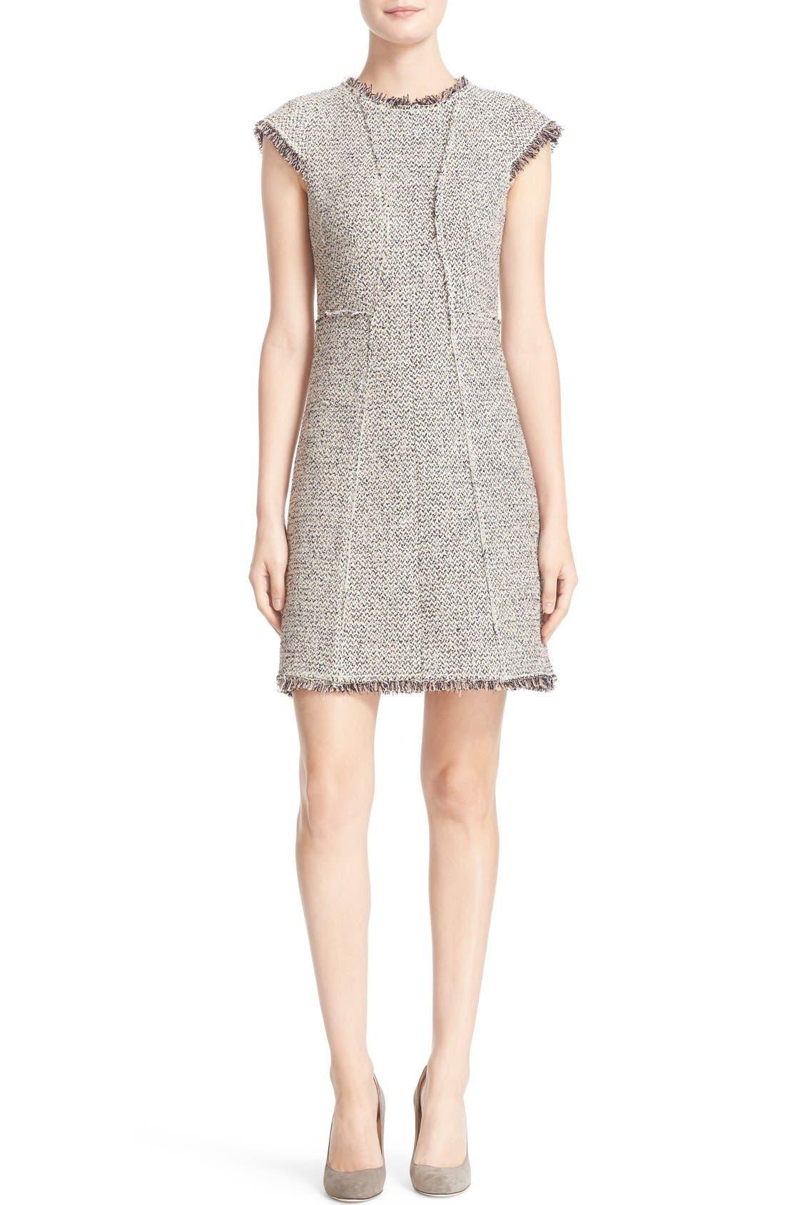 Main Image - Rebecca Taylor Structured Tweed Sheath Dress