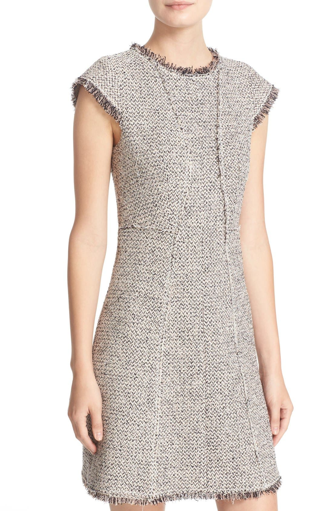 Alternate Image 4  - Rebecca Taylor Structured Tweed Sheath Dress