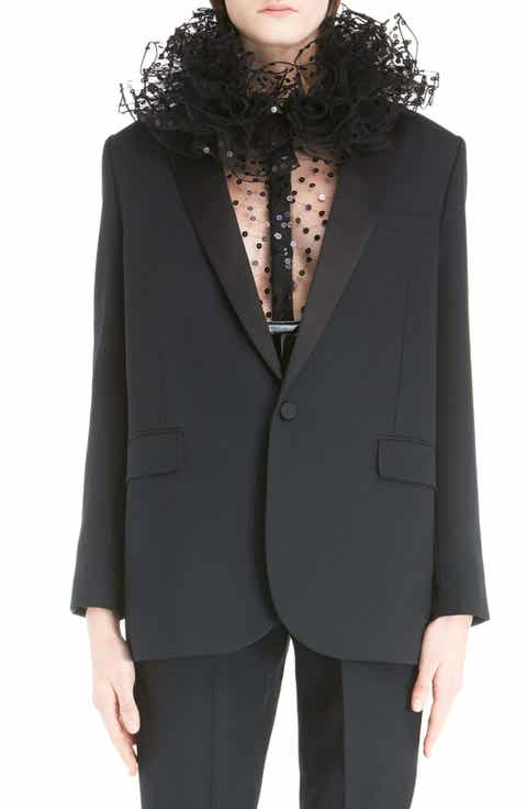 Saint Laurent One-Button Tuxedo Jacket