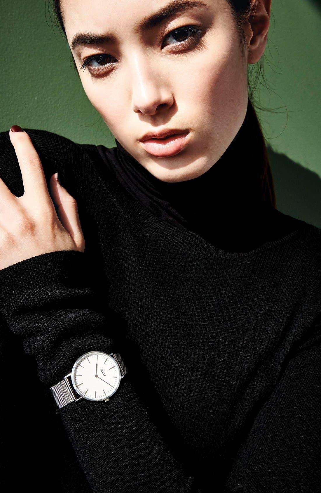 Alternate Image 4  - CLUSE 'La Bohème' Mesh Strap Watch, 38mm