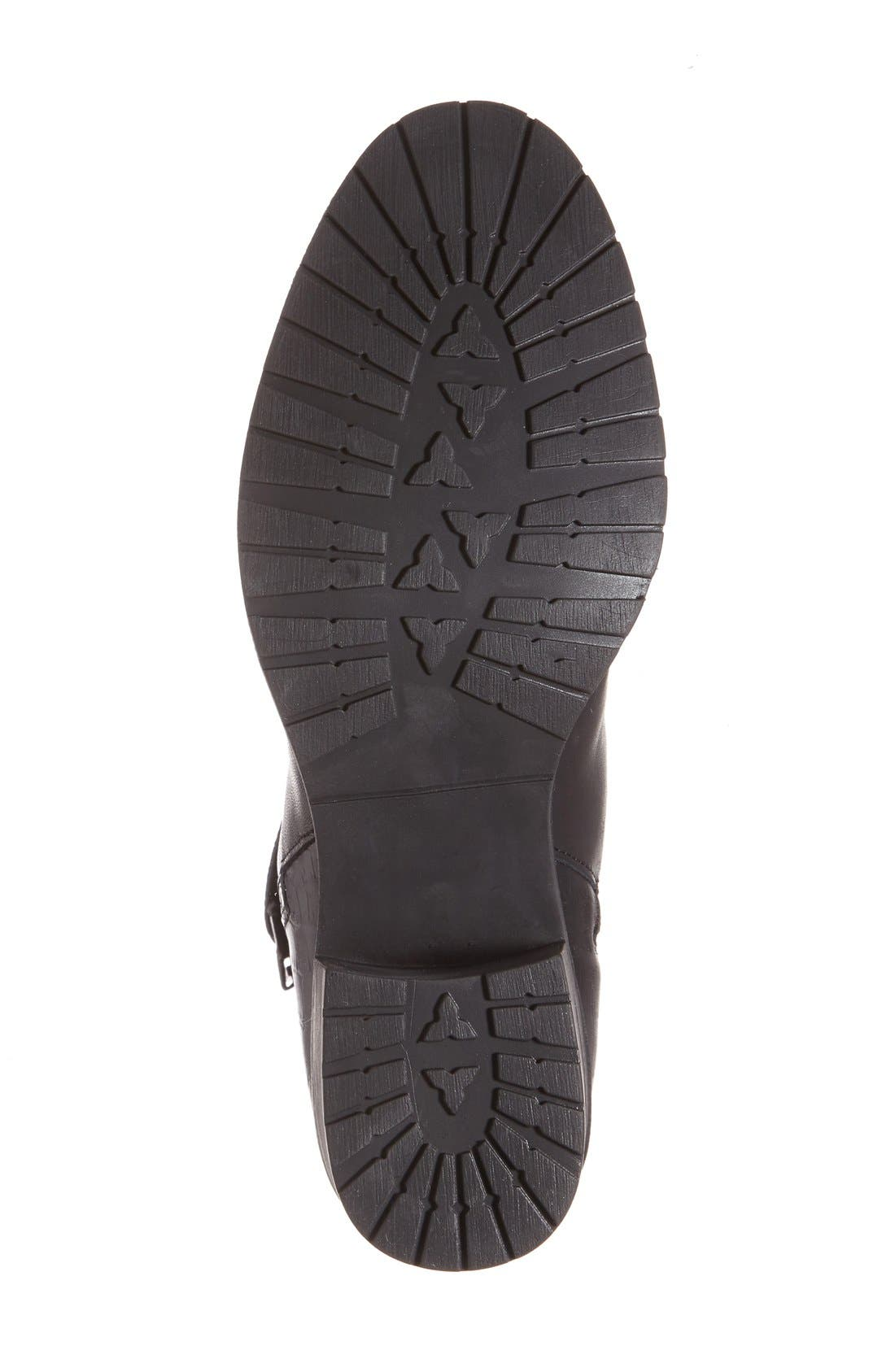 'Borano' Slouchy Waterproof Bootie,                             Alternate thumbnail 4, color,                             Black Crinkle Patent Leather