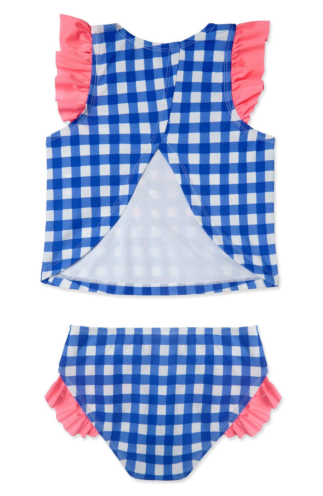 Alternate Image 2  - Hula Star Gingham Two-Piece Swimsuit (Toddler Girls & Little Girls)