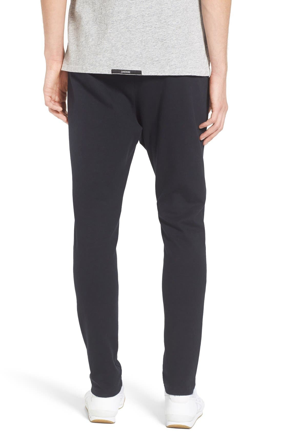 'Cling Ponte' Jogger Pants,                             Alternate thumbnail 2, color,                             Black