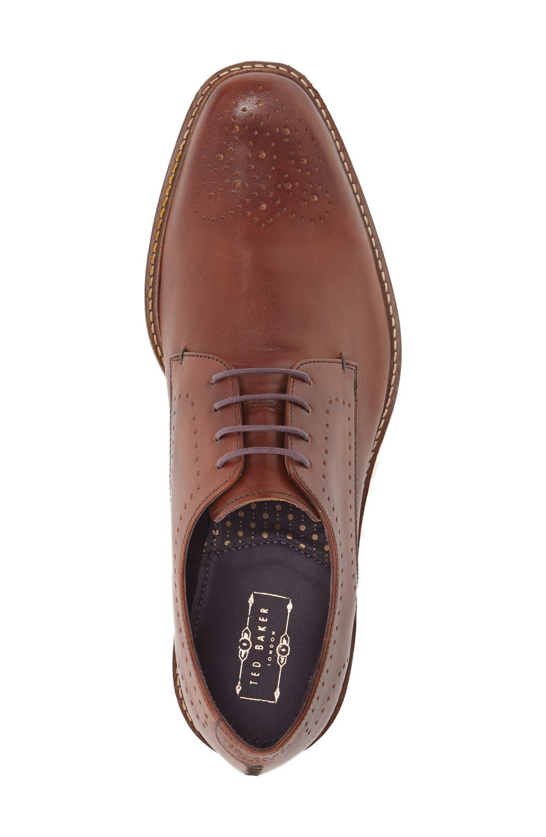 'Marar' Medallion Toe Derby,                             Alternate thumbnail 3, color,                             Tan