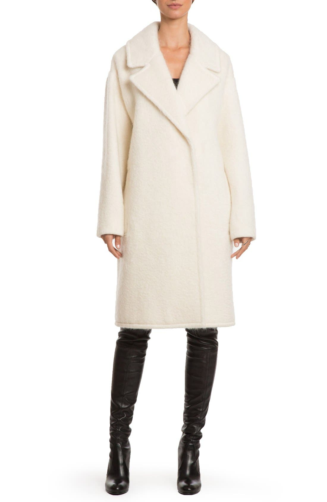 Alternate Image 1 Selected - Badgley Mischka 'Jenna' Snap Back Cocoon Coat