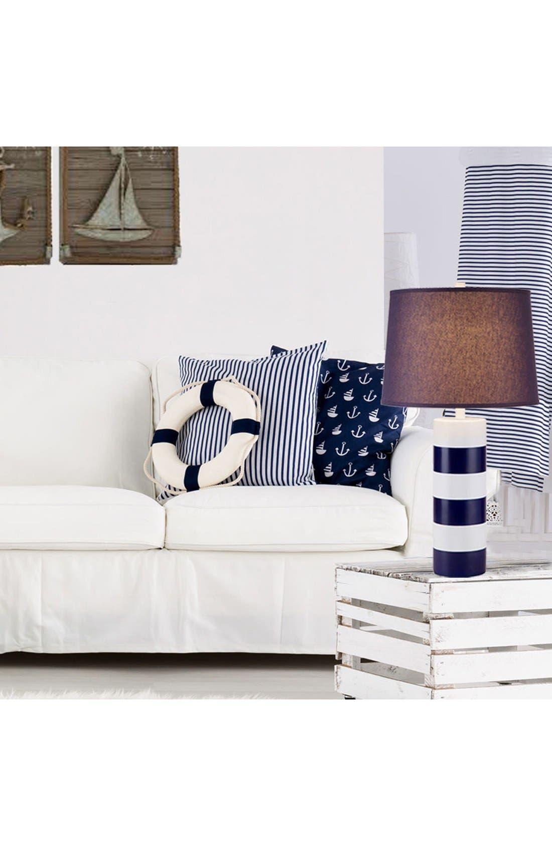 JAlexander Stripe Table Lamp,                             Alternate thumbnail 2, color,                             Blue/White