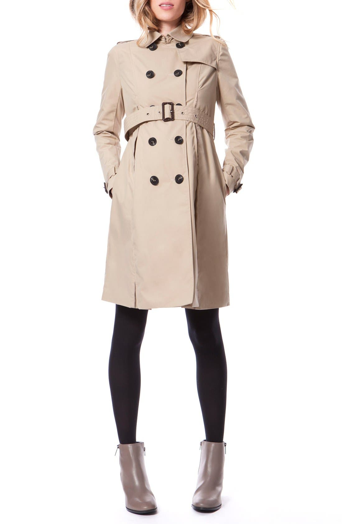Main Image - Seraphine Alina Maternity Trench Coat