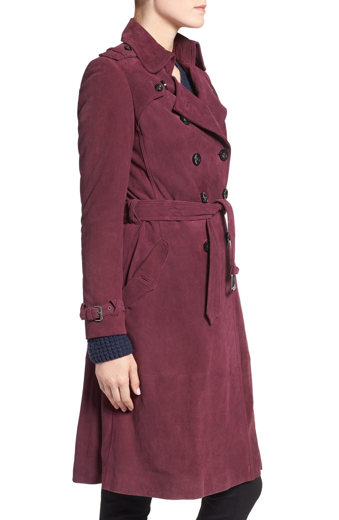 Alternate Image 3  - Rebecca Minkoff 'Amis' Double Breasted Suede Trench Coat