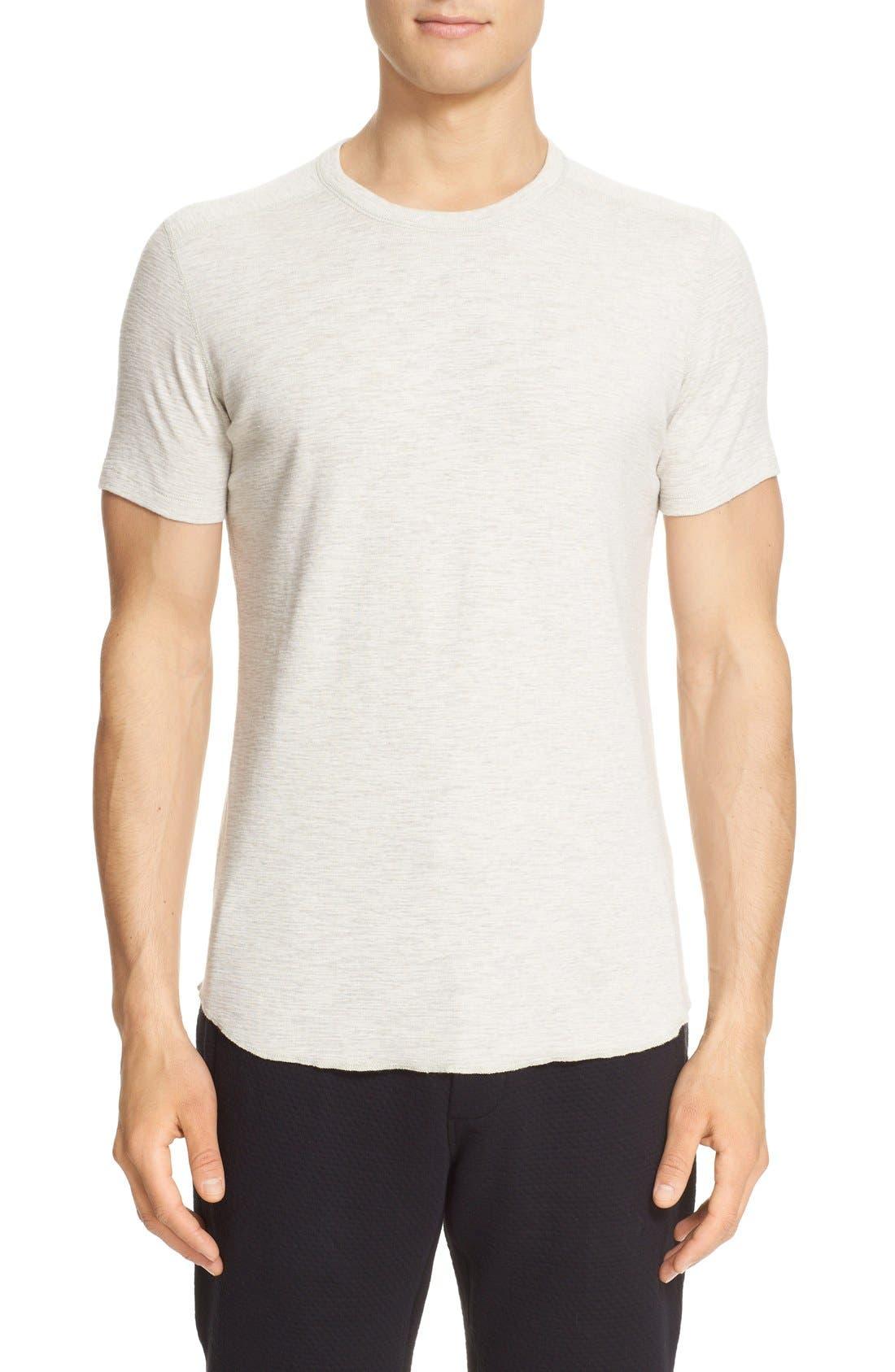 wings + horns Ribbed Slub Cotton T-Shirt