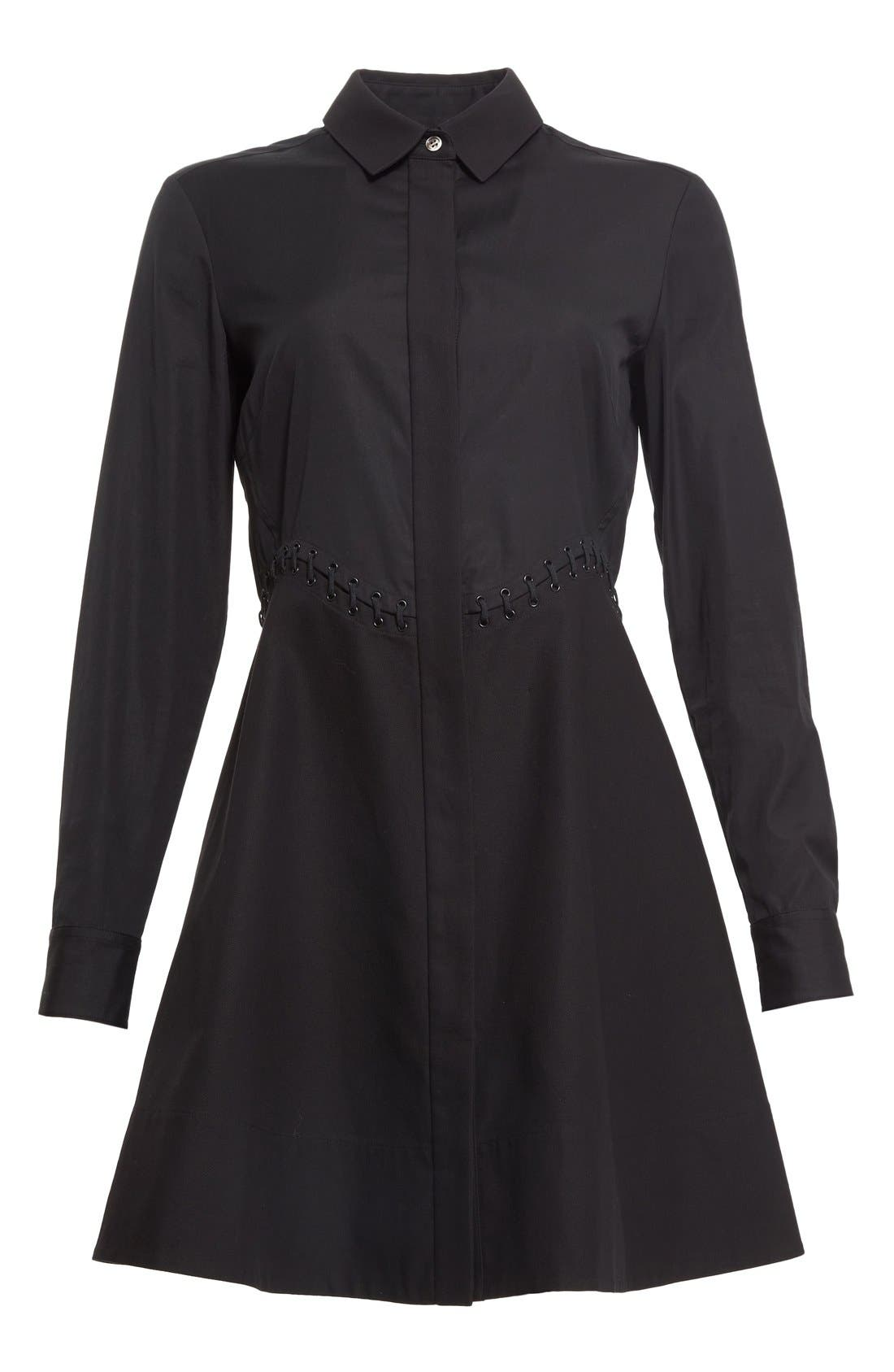 Alternate Image 4  - Alexander Wang Lace Detail Fit & Flare Shirtdress