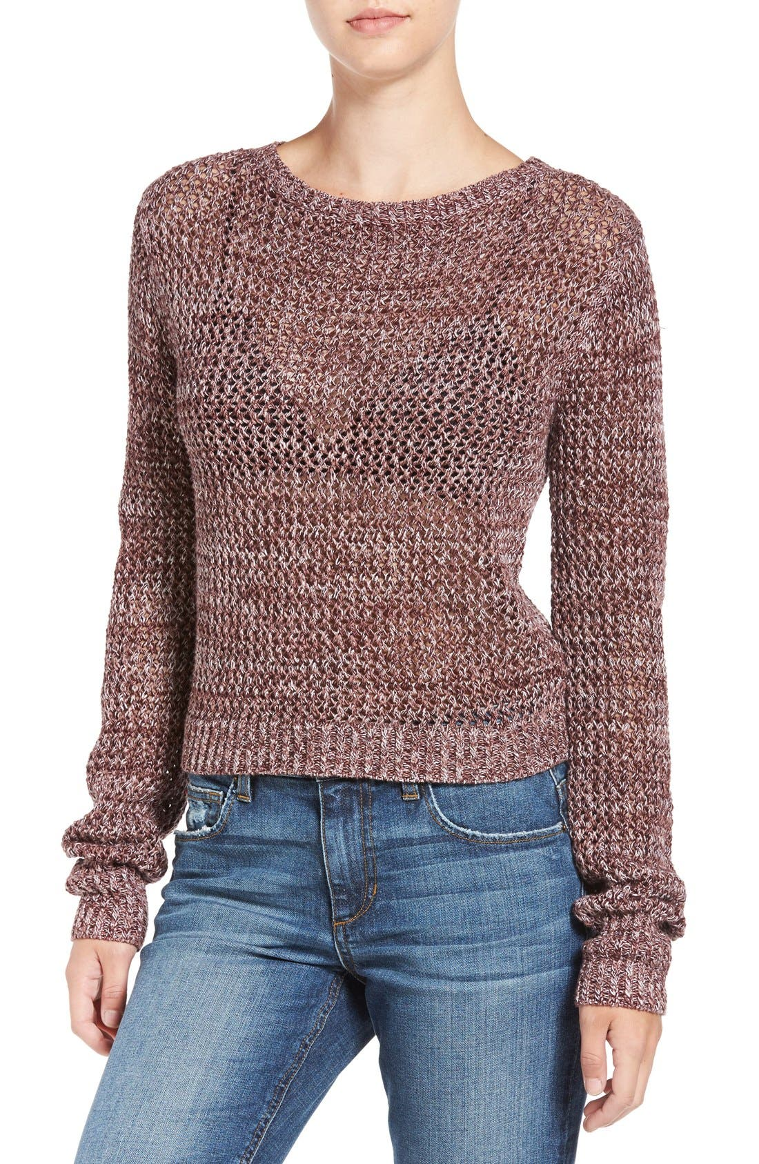 Main Image - Joe's 'Reed' Crochet Cotton Sweater