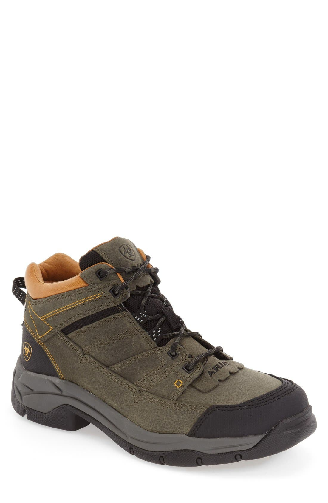 'Terrain Pro' Waterproof Hiking Boot,                             Main thumbnail 1, color,                             Shadow Leather