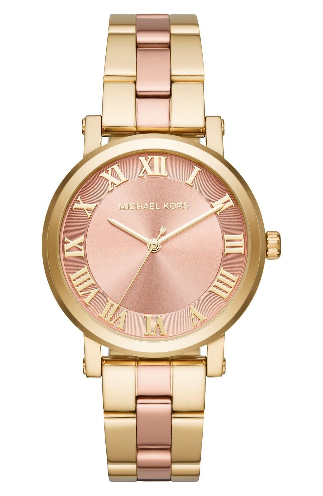 Alternate Image 1 Selected - Michael Kors Norie Bracelet Watch, 39mm