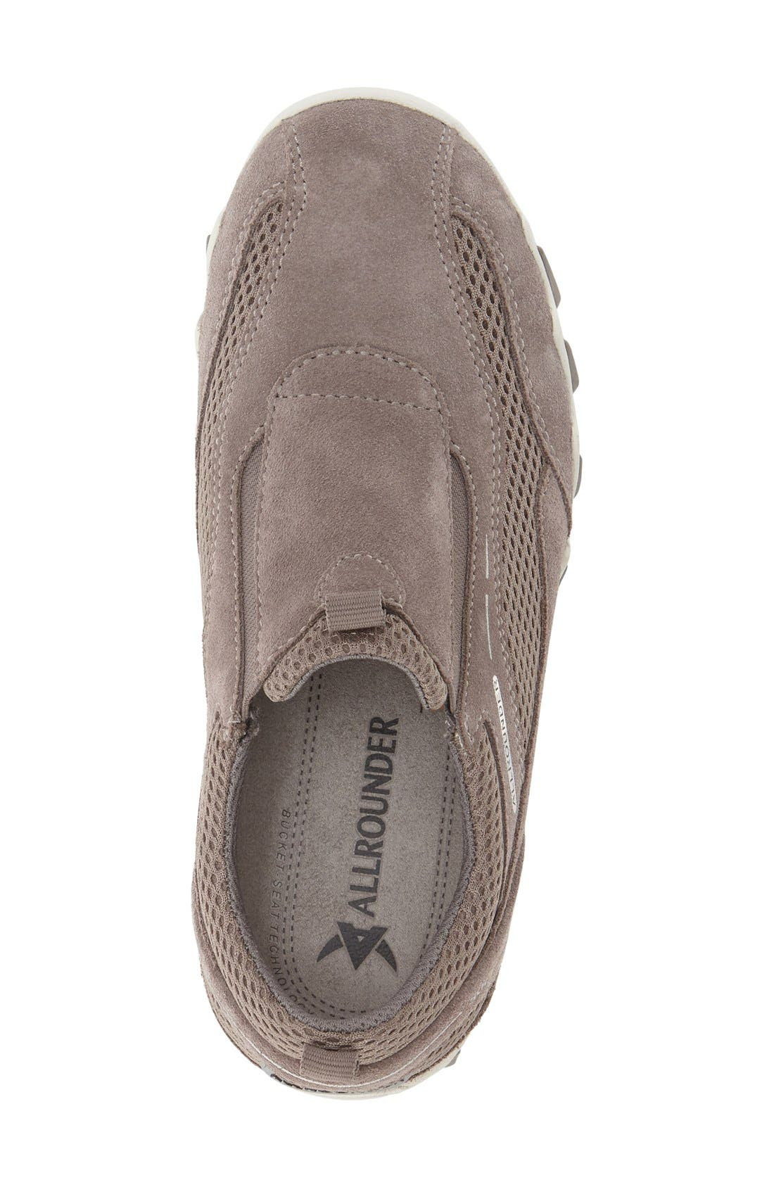 'Nawaja' Slip-On Sneaker,                             Alternate thumbnail 3, color,                             Grigio Suede