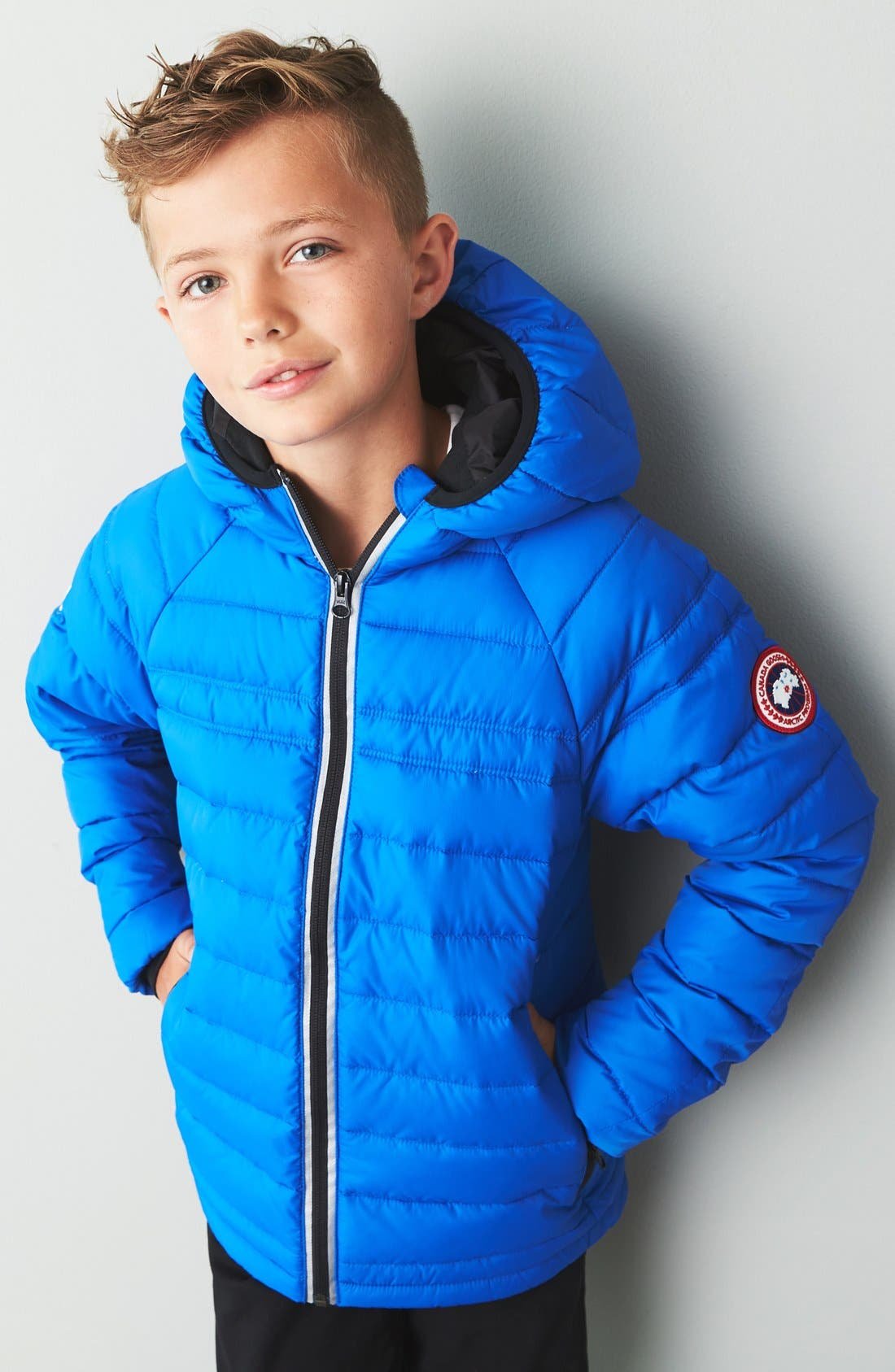 Alternate Image 2  - Canada Goose Sherwood Hooded Packable Jacket (Big Kid)