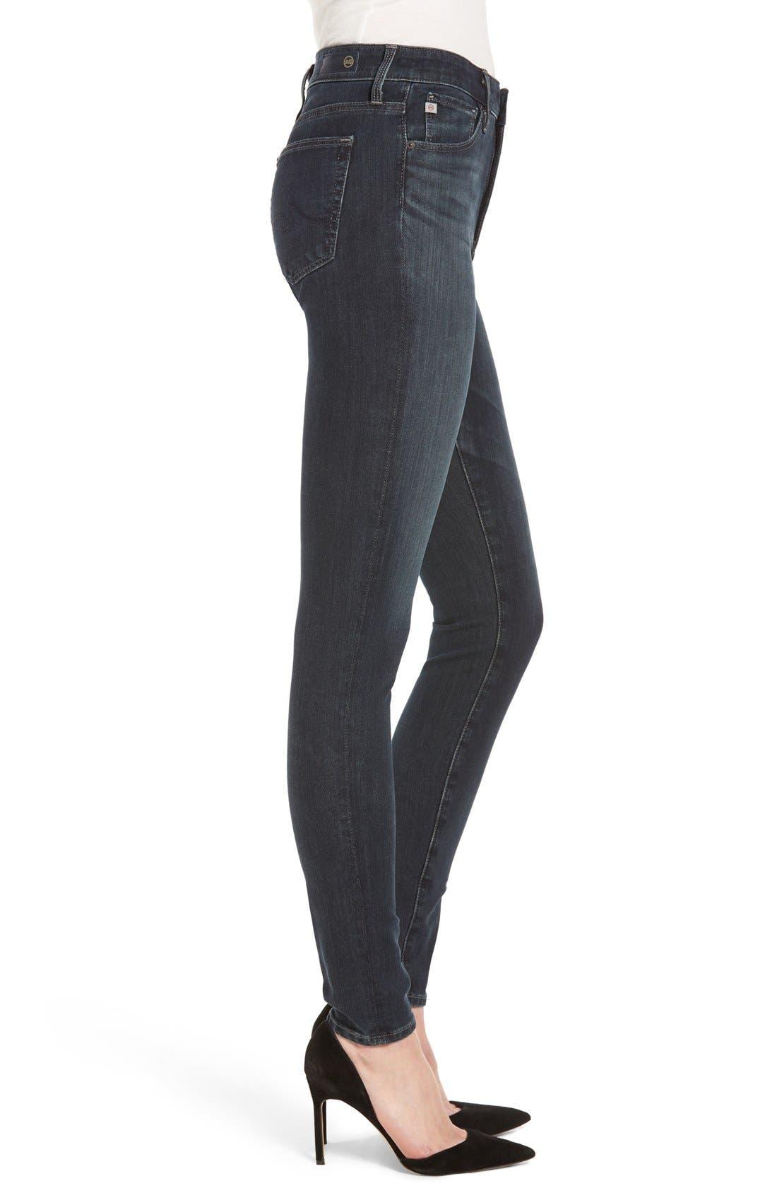 Alternate Image 3  - AG Contour 360 - Farrah High Waist Skinny Jeans
