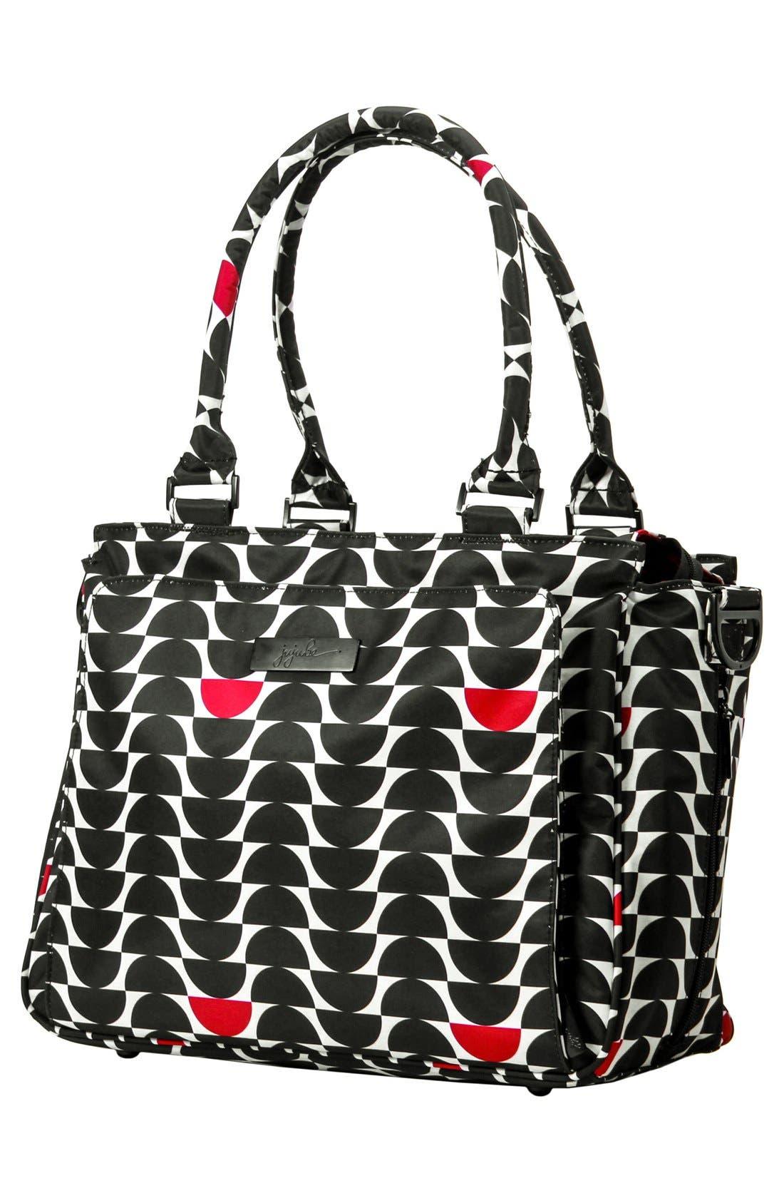 'Be Classy' Diaper Bag,                             Alternate thumbnail 4, color,                             Black Widow