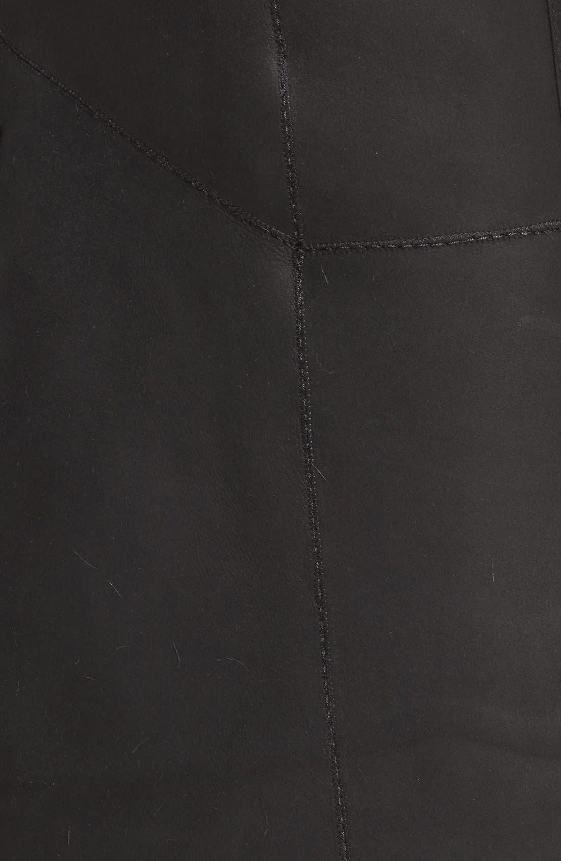 River 43 Genuine Toscana Shearling Coat,                             Alternate thumbnail 5, color,                             Black Brisa
