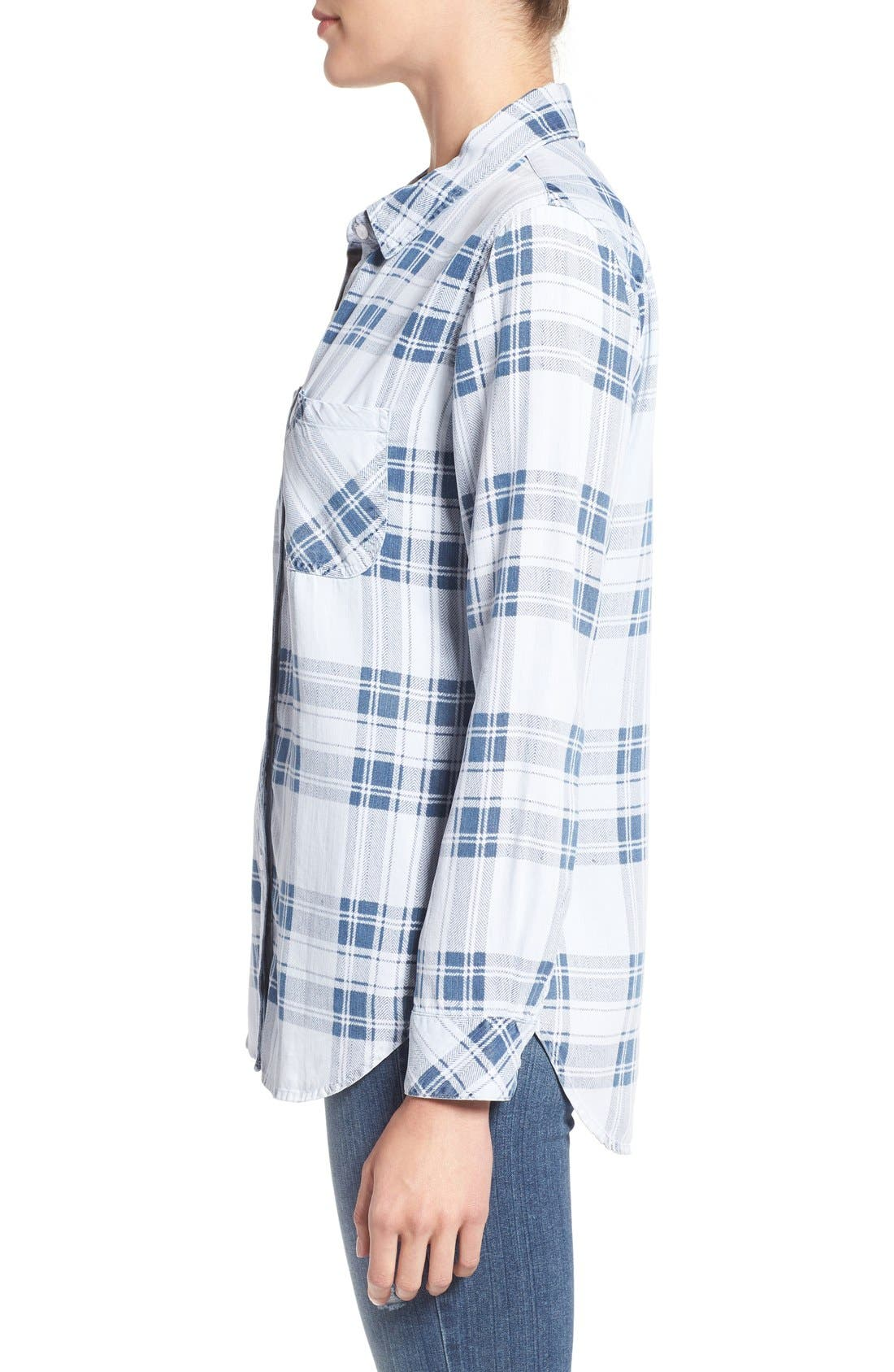Carter Plaid Shirt,                             Alternate thumbnail 3, color,                             Pigment Plaid