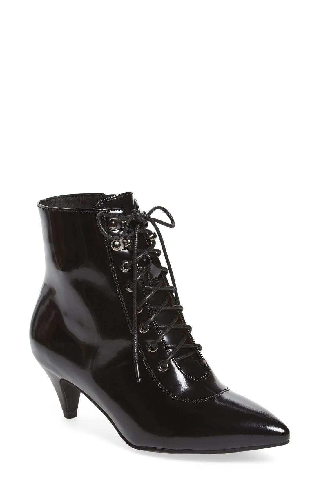 Alternate Image 1 Selected - Jeffrey Campbell 'Nessarose' Lace-Up Bootie (Women)