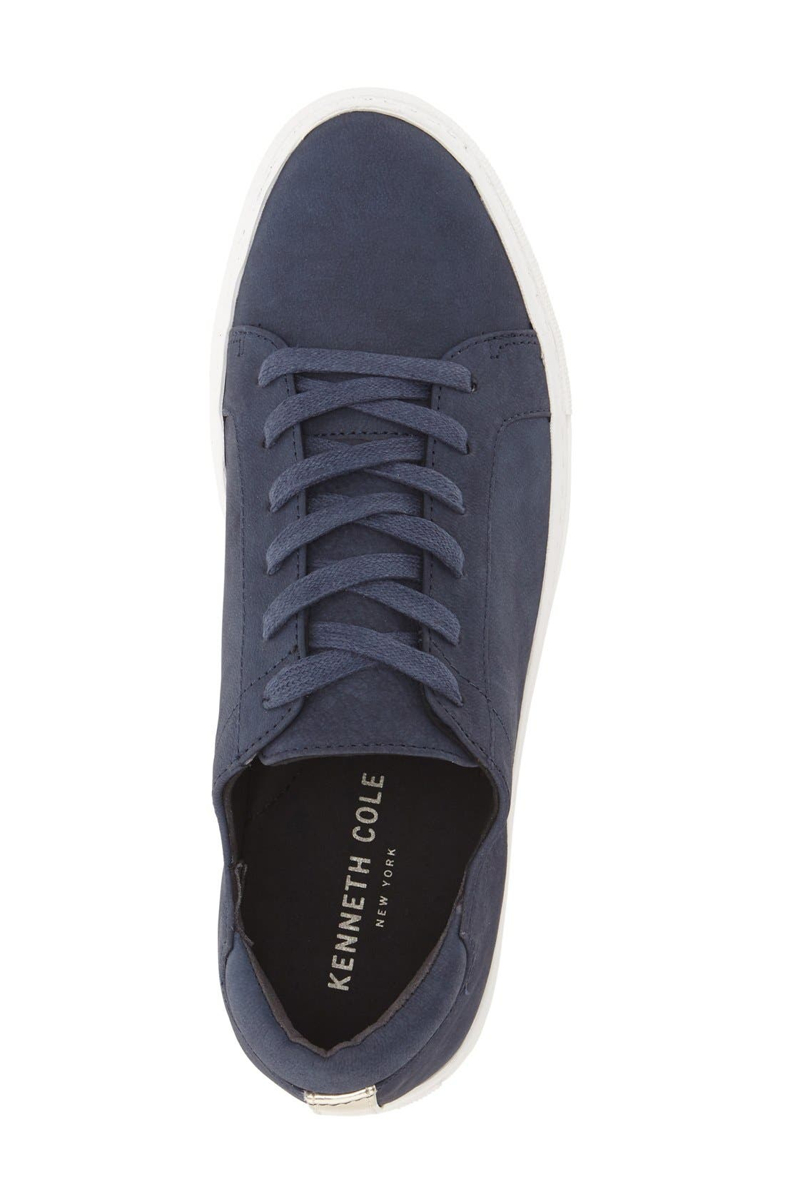'Kam' Sneaker,                             Alternate thumbnail 3, color,                             Navy Nubuck Leather