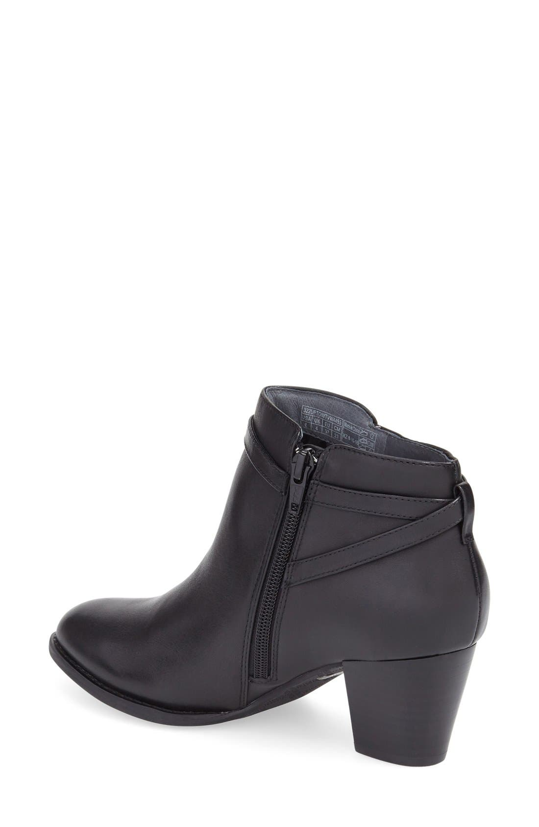 'Upton' Block Heel Boot,                             Alternate thumbnail 2, color,                             Black Leather