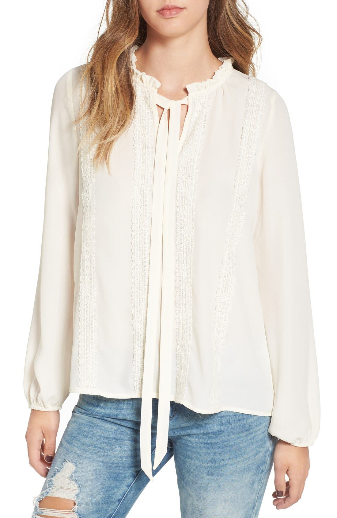 Main Image - Madison & Berkeley Victorian Ruffle Blouse