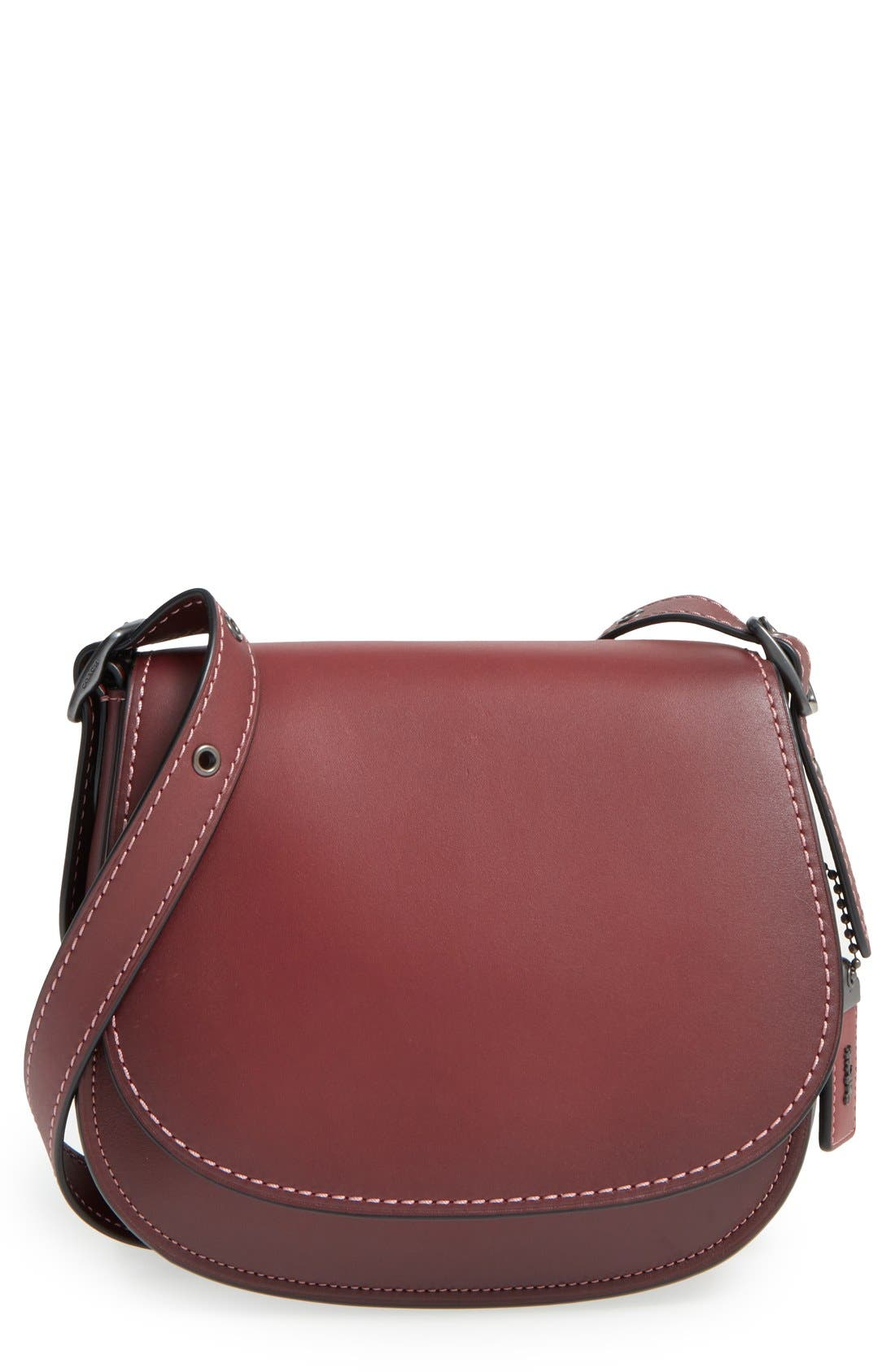 Alternate Image 1 Selected - COACH 1941 '23' Leather Saddle Bag