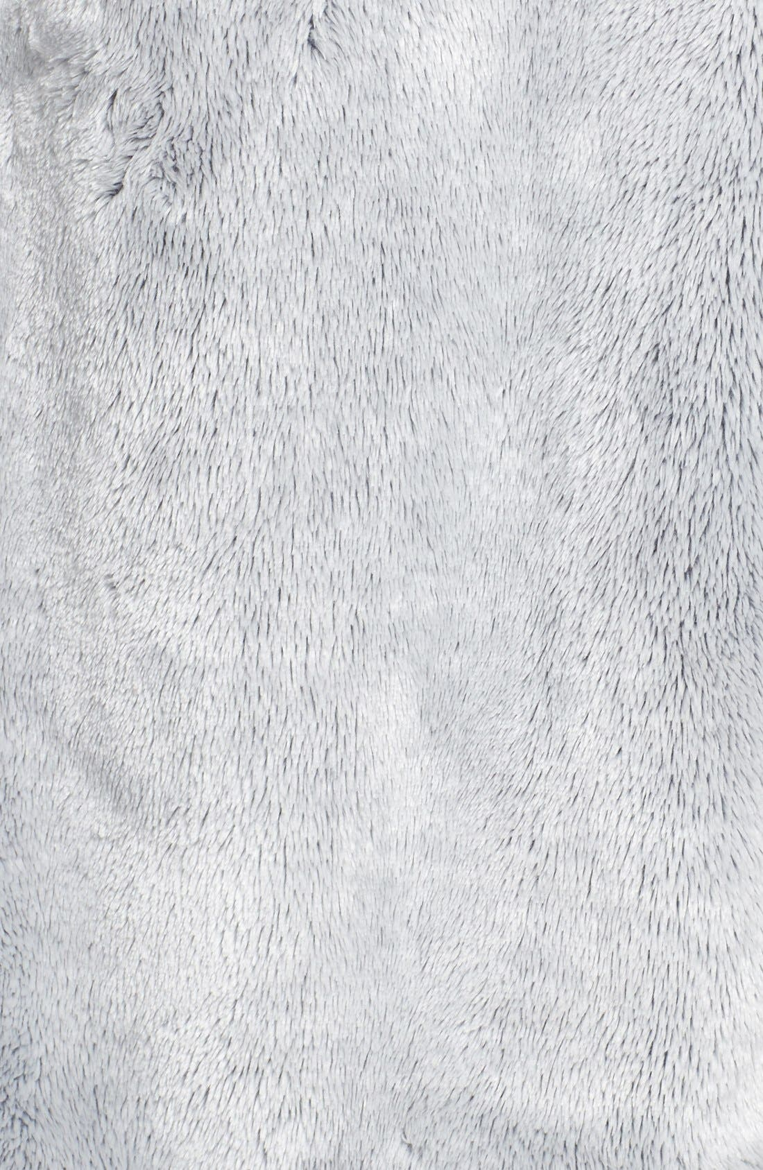 Frosted Plush Robe,                             Alternate thumbnail 5, color,                             Grey