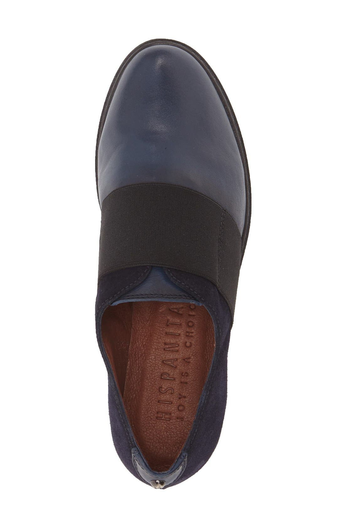 'Ardia' Slip-On Platform Flat,                             Alternate thumbnail 3, color,                             Soho Blue Leather