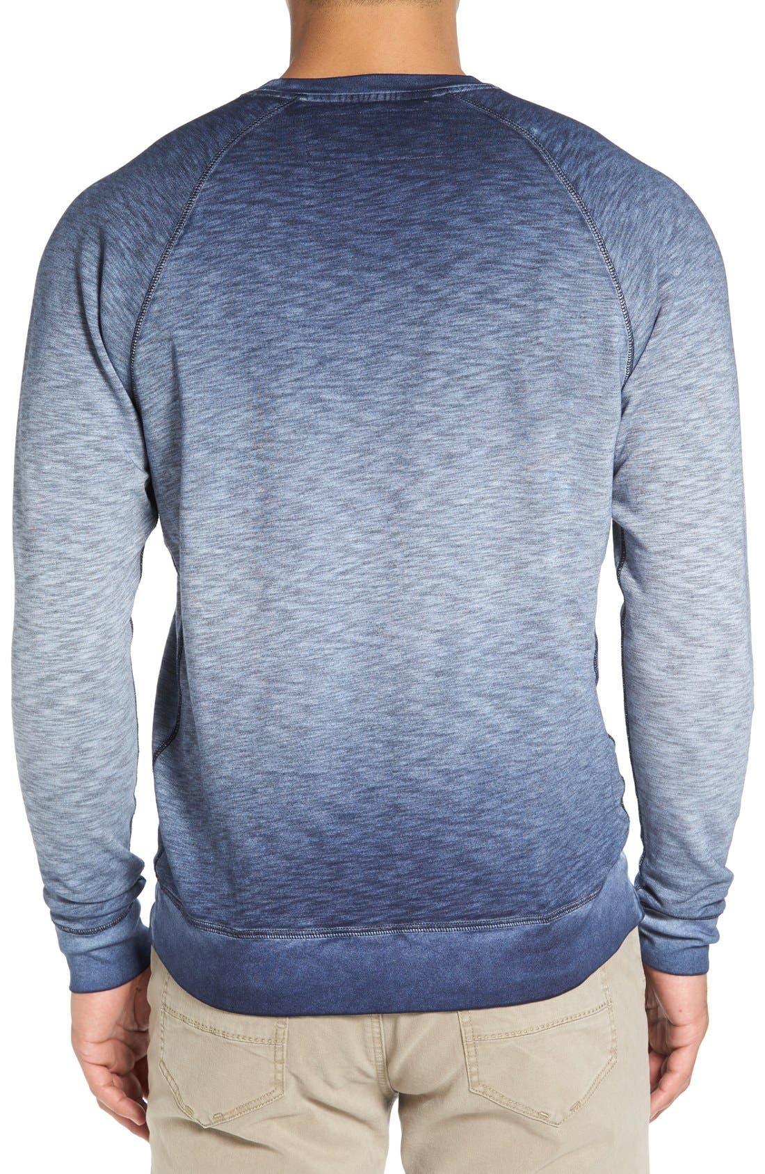 'Santiago' Ombré Crewneck Sweatshirt,                             Alternate thumbnail 2, color,                             Navy