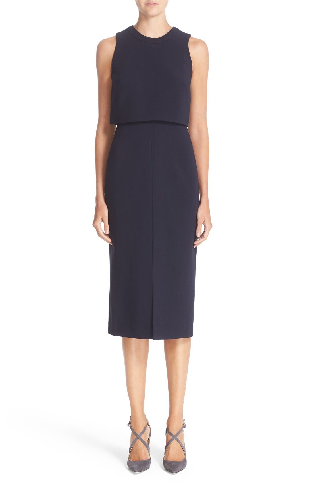 Main Image - Nordstrom Signature and Caroline Issa Swing Back Crepe Dress