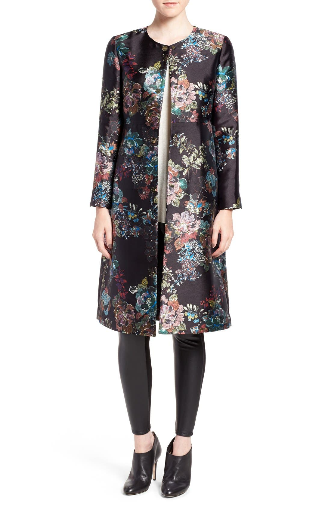 Ted Baker London 'Antique Botanical' Floral Print Coat