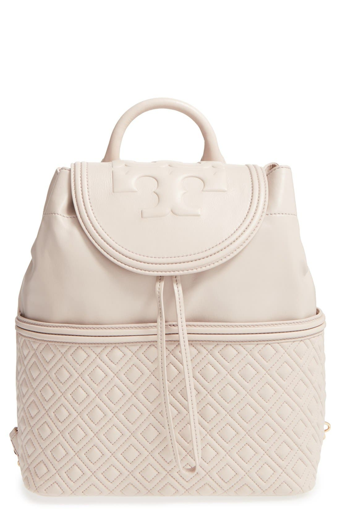 Main Image - Tory Burch 'Fleming' Quilted Lambskin Leather Backpack