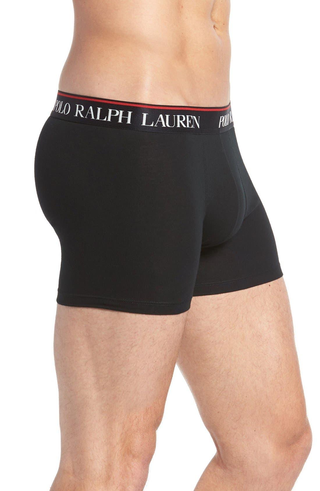 Alternate Image 4  - Polo Ralph Lauren 3-Pack Stretch Cotton Boxer Briefs
