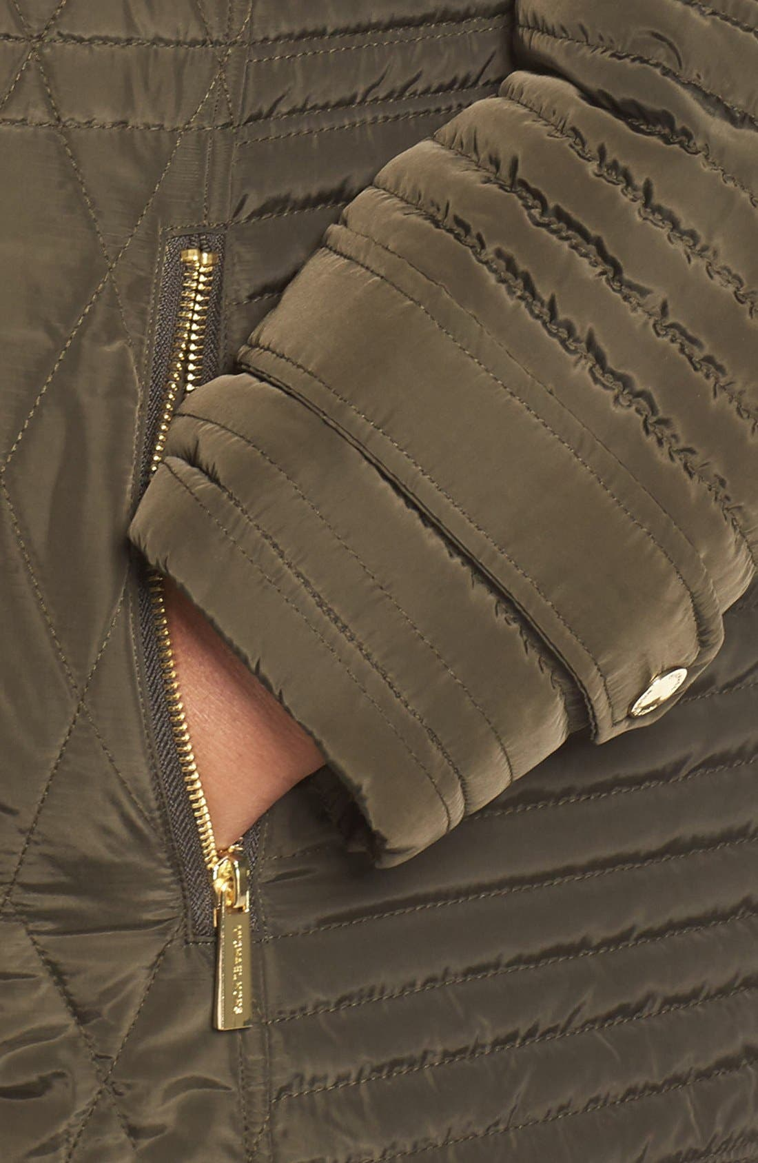 Quilted Jacket,                             Alternate thumbnail 4, color,                             Dark Moss