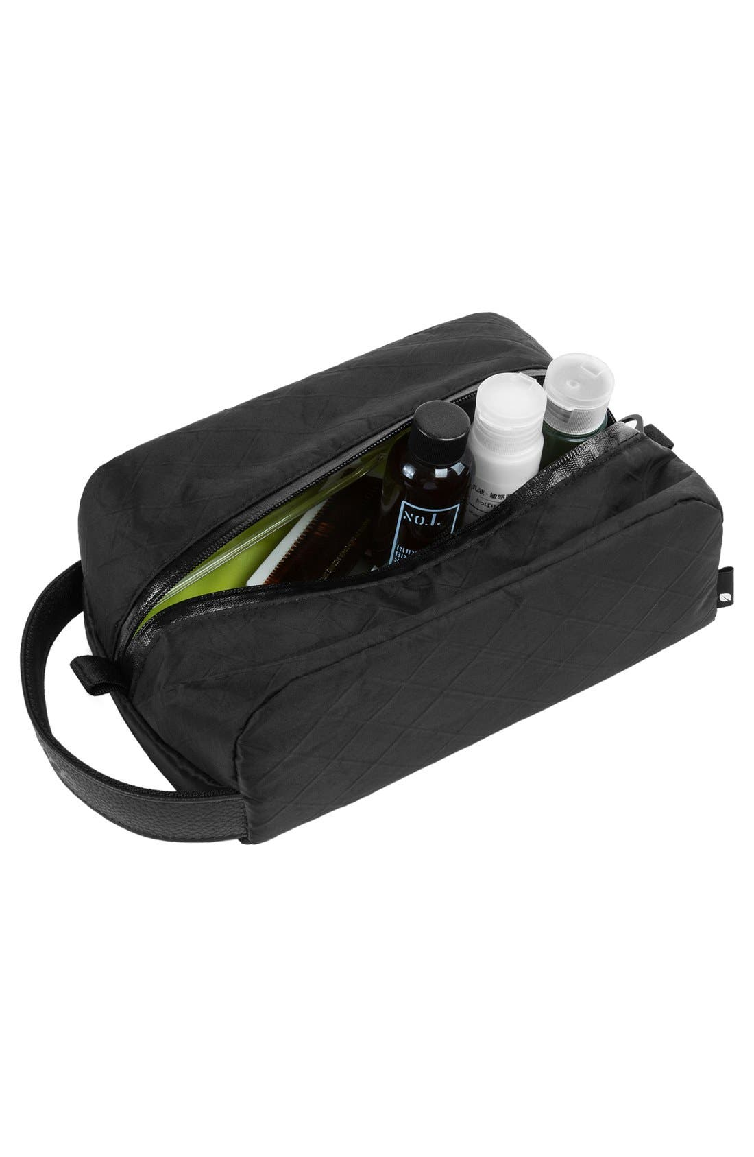Diamond Wire Dopp Kit,                             Alternate thumbnail 4, color,                             Black