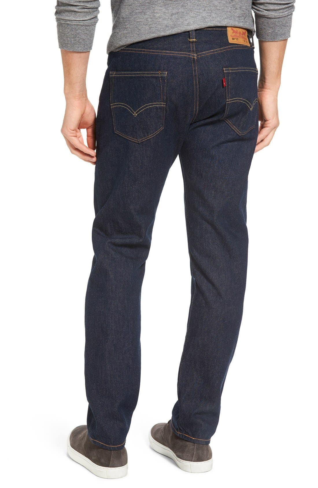 Alternate Image 2  - Levi's® 501® CT Slim Fit Jeans (Noten) (Regular & Tall)