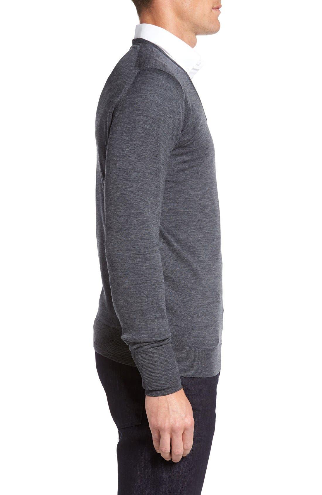 Alternate Image 3  - John Smedley 'Bobby' Easy Fit V Neck Wool Sweater