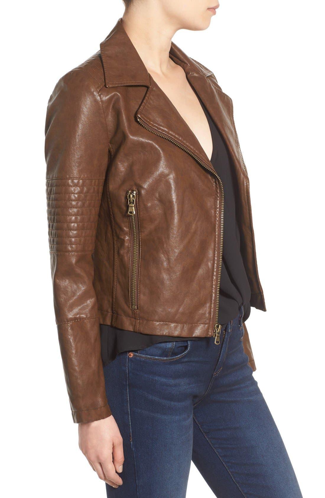 Alternate Image 3  - Levi's® Faux Leather Moto Jacket