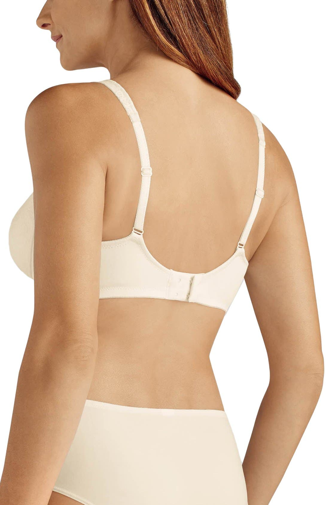 'Annette' Soft Cup Bra,                             Alternate thumbnail 2, color,                             Ivory