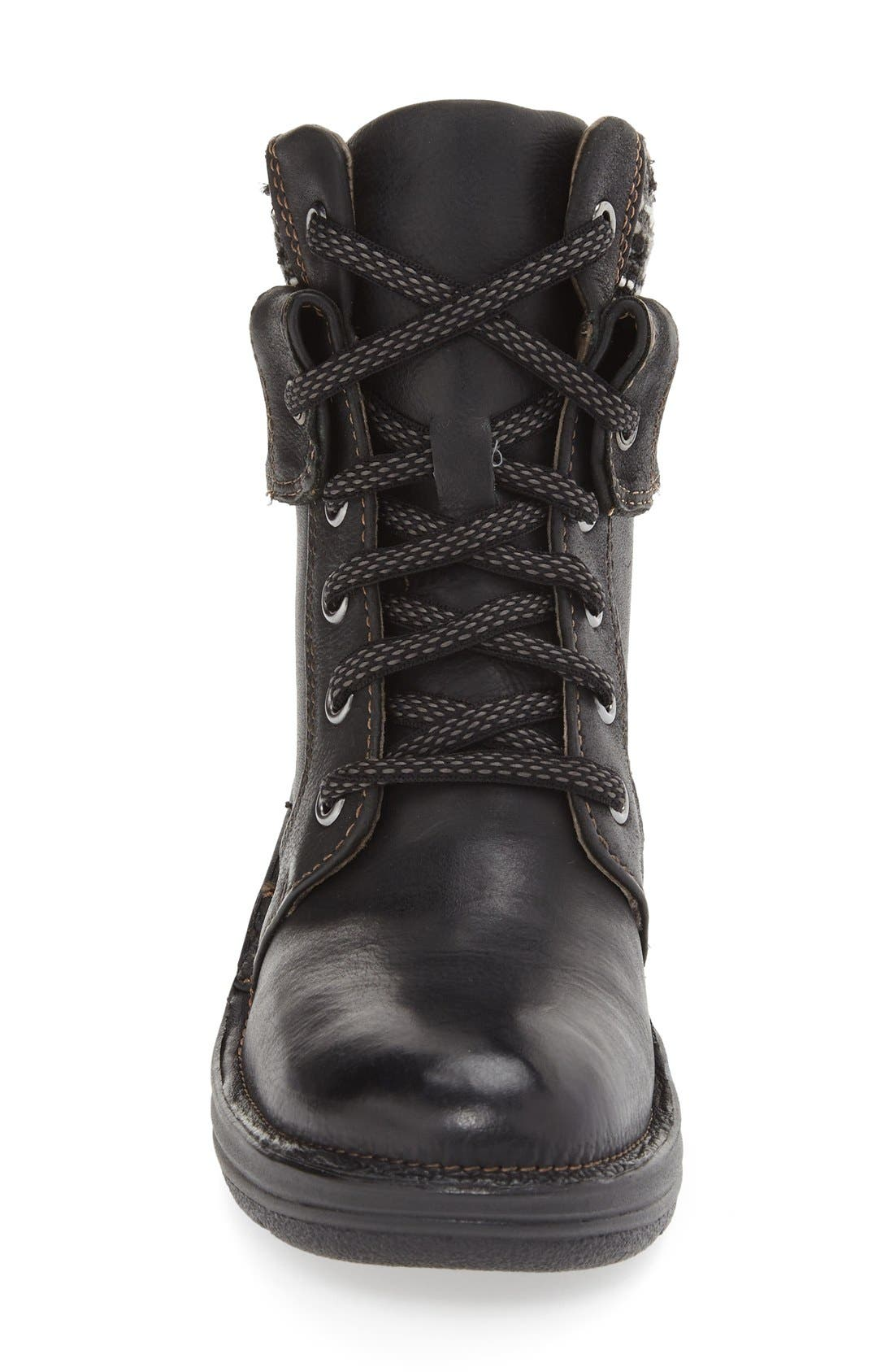 'Romulus' Boot,                             Alternate thumbnail 3, color,                             Black Leather