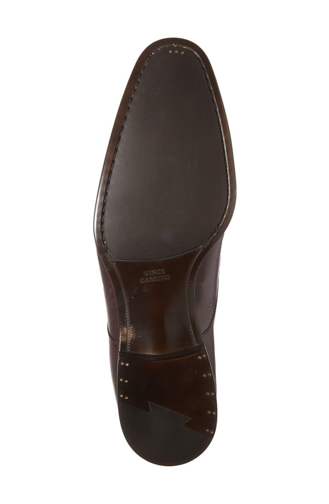 'Trifolo' Monk Strap Shoe,                             Alternate thumbnail 4, color,                             Dark Woodbury Leather
