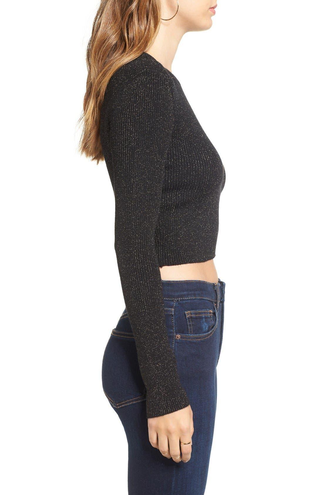 Alternate Image 3  - ASTR 'Edna' Crop Sweater