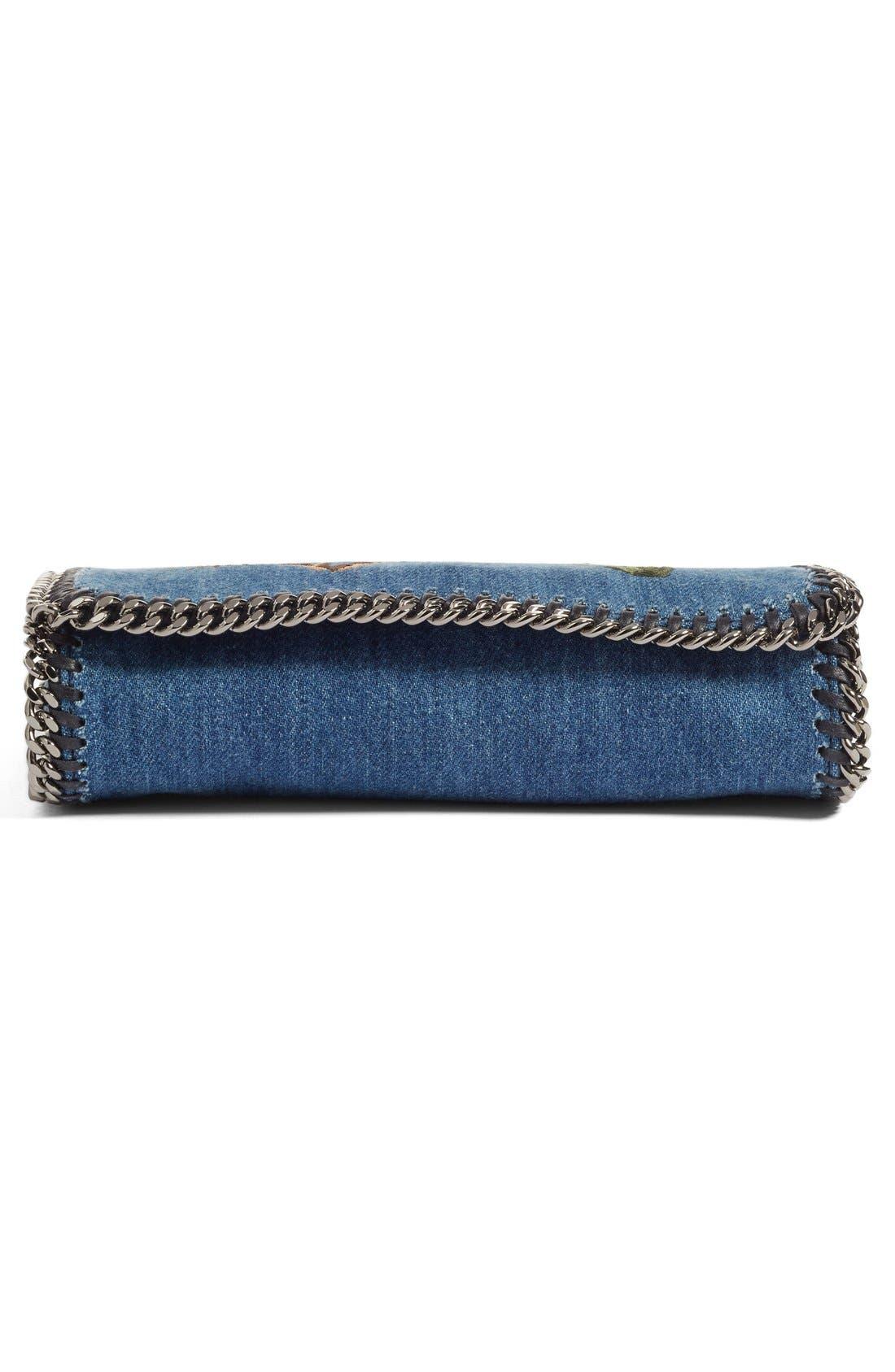 Alternate Image 5  - Stella McCartney Embroidered Denim Shoulder Bag