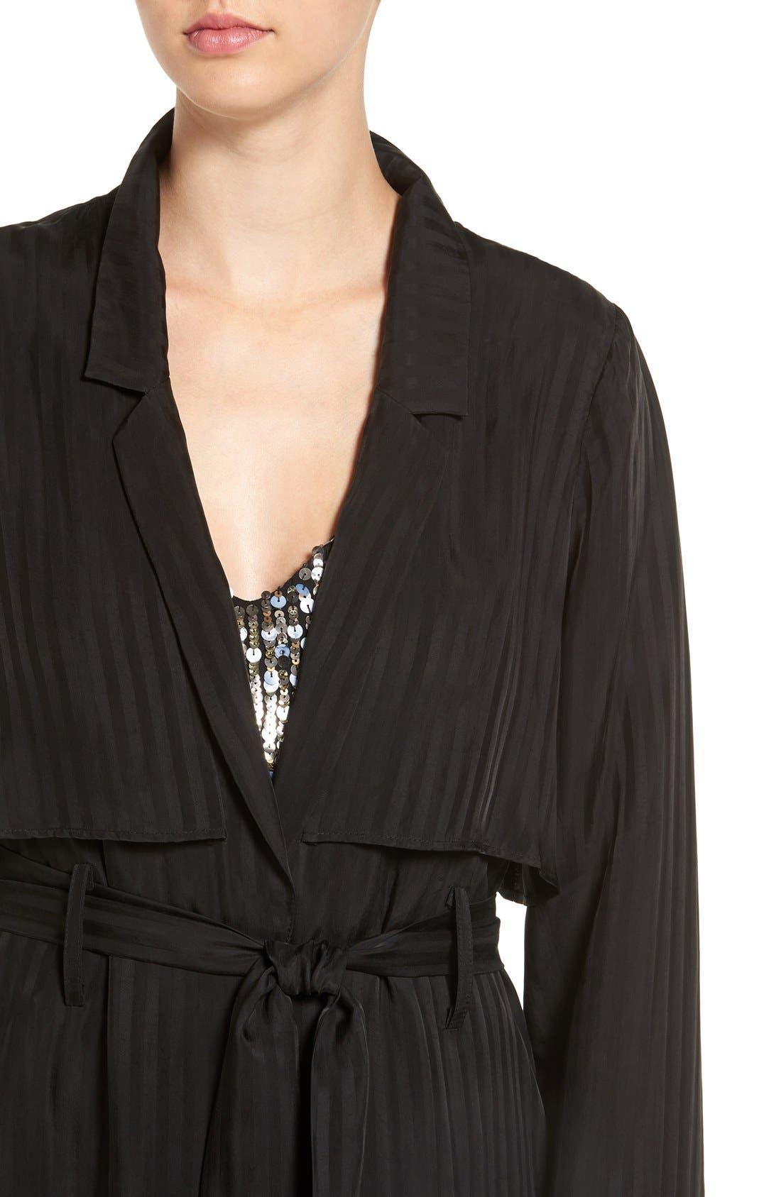 Alternate Image 4  - KENDALL + KYLIE 'Tuxedo' Long Stripe Jacket