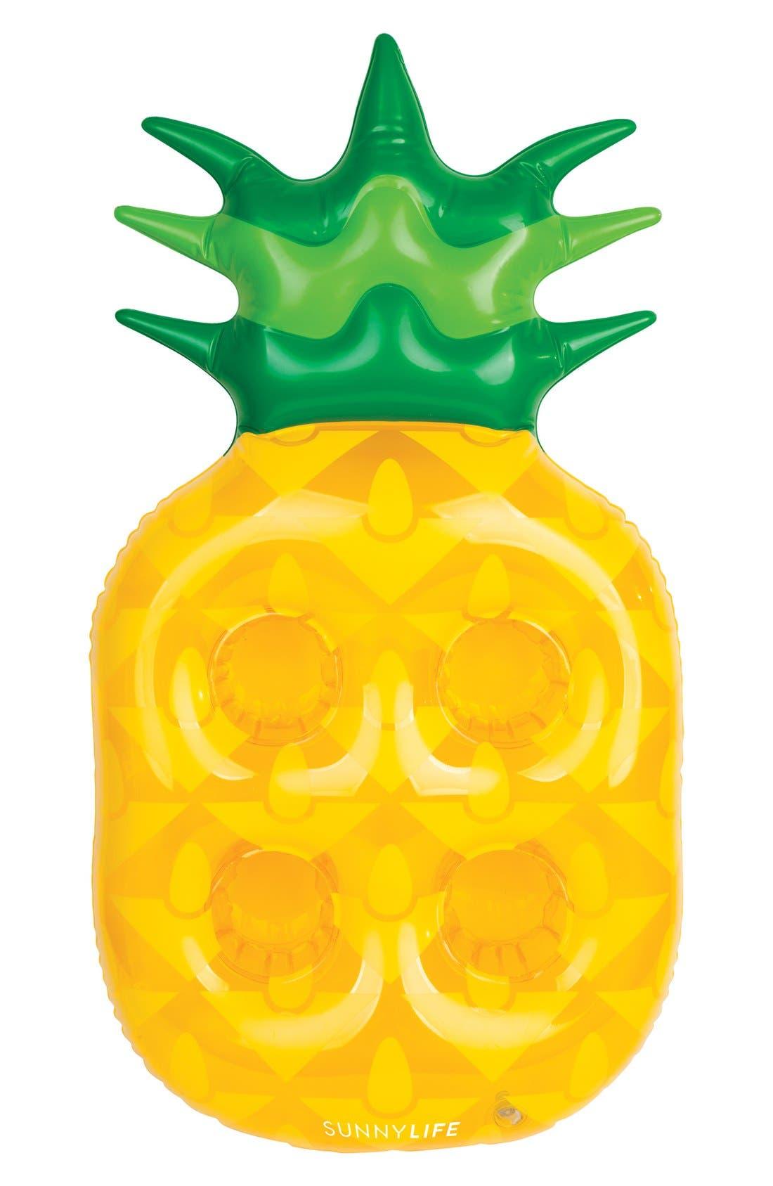 Sunnylife Inflatable Pineapple Drink Holder Pool Float